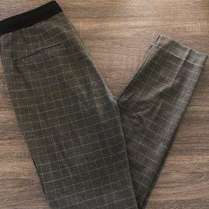 Zara Grey Plaid Pant